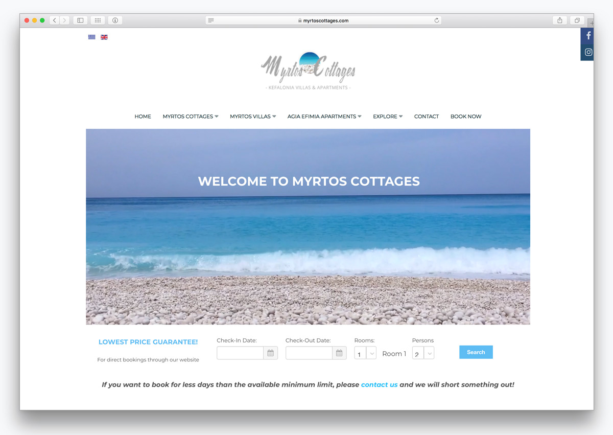 2myrtos cottages kefalonia website