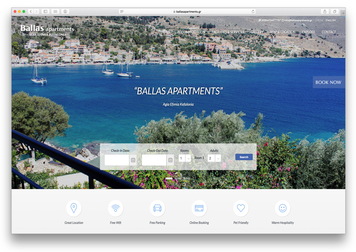 kefalonia websites ballas apartments kefalonia