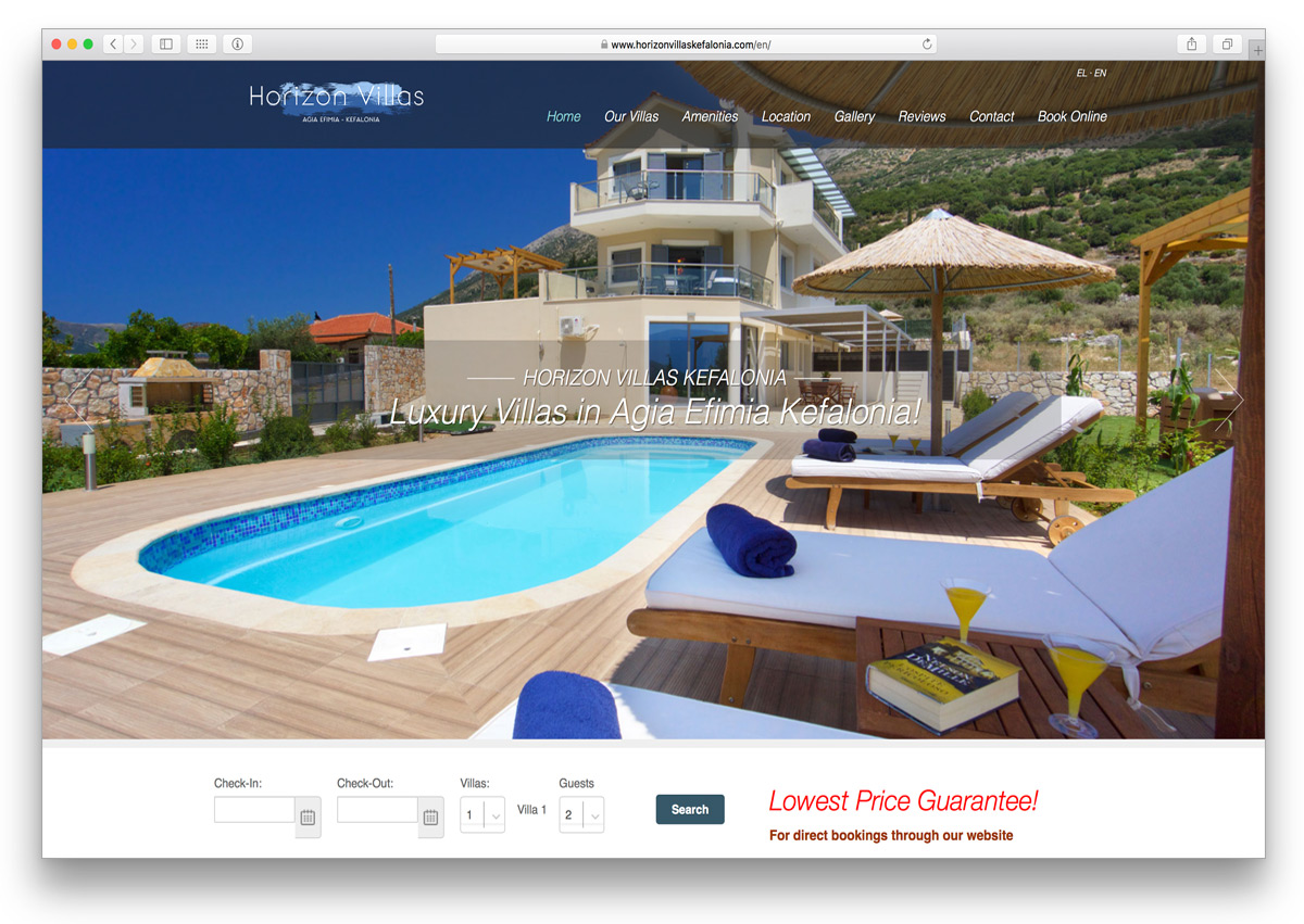 kefalonia websites horizon villas